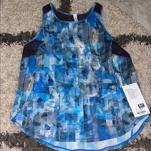 Sculpt Tank II Lululemon Blue Patterned Shirt